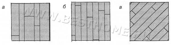 Типы укладки массивной доски