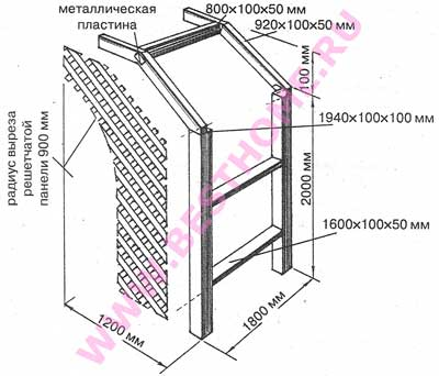 Схема многоугольной арки
