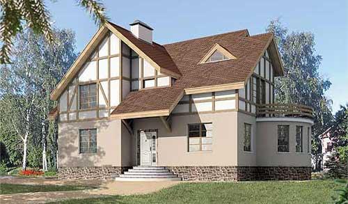 Проект коттеджа l 443 1p проекты домов