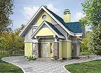 Проект коттеджа E-091-1P - проекты домов на ALVEN-S.RU.
