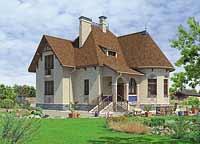 Проект коттеджа L-214-1K - проекты домов на ALVEN-S.RU.