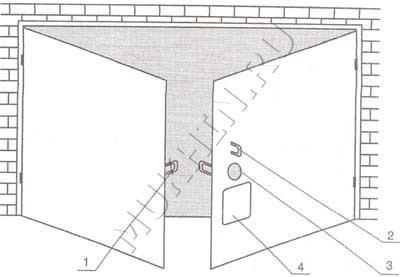 Устройство запирания ворот изнутри