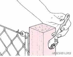 Как натянуть проволоку между столбами