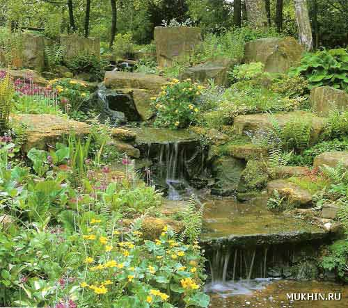 Сделать водопад для сада