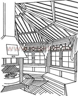 Летняя кухня, мангал, коптильня, пергола.