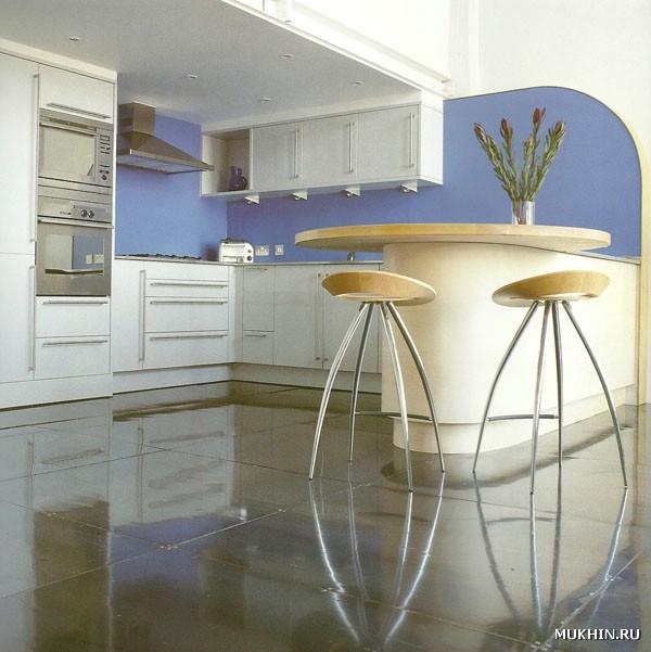 Эта бело голубая кухня как будто