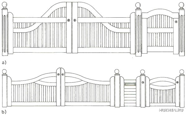 Ворота из дерева своими руками чертежи
