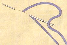 Вышивка обратный стежок