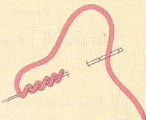 Как сделать узелок при шитье 971