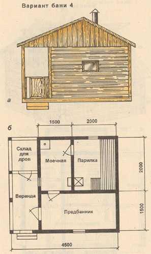 Бани n 4 а общий вид б план бани