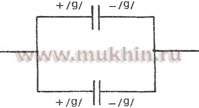 Параллельное соединение двух конденсаторов