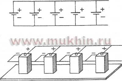 Параллельное соединение источников тока