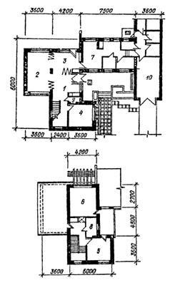 Фасады планы дома серии 1 передняя 2
