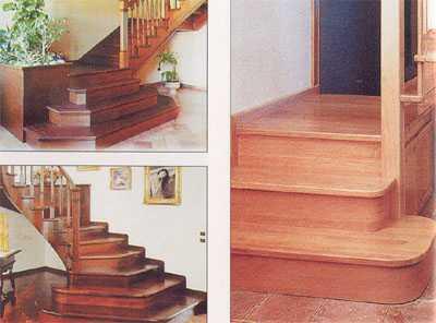 Односторонние фризовые ступени лестницы у стены