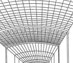 Потолок из стеклоблоков